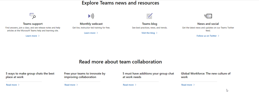 MS Teams Customer Training Resources